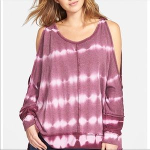 •FREE PEOPLE• Dandyline' Cold Shoulder Pullover